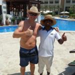 Abul, poolside waiter