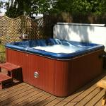 Hot tub in our large garden