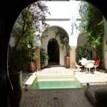 Courtyard with plunge-pool