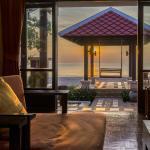 Living room of beach front villa