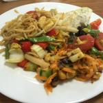 Lemon & Ginger stir fry with egg noodles special!