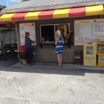 Hazels Hotdog Stand, order window