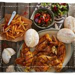 Nando's Chicken with Salad