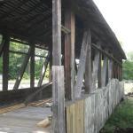Covered Bridge Under Repair Near Bedford Pa
