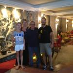 Our family with Silvio the owner.