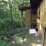 Clutter & rotted Balcony/deck which was closed off.
