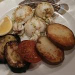 Sole grillée, pâtes à la bolognaise et sèches grillées... Excellents