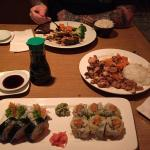 """I had two sushi rolls. I cannot remember the other, but one was the """"Spicy Salmon Crunchy Roll""""."""