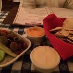 Relish Plate while waiting for drinks :-)