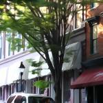 Shockhoe District scene outside the restaurant