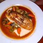 Snapper with summer Vegetables