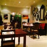 one of the many dining area's at Amanzi's in Harare, Zimbabwe