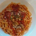 3 meatball spaghetti and penne vesuvio