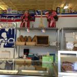 Inside bakery