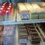 various cake slices