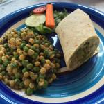 Curry, lentil wrap.