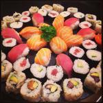Assortiment sushi.