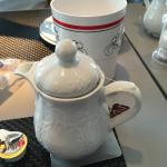 Individual teapot at breakfast