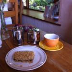 Date slice at The Old School tea room.