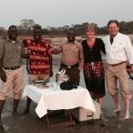 Amazing Staff for sunset dinner at Zungulila