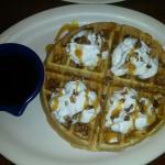 Yummy pecan waffle