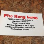 Photo of Pho Hong Long