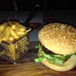Beef burger (the chicken burger  is a better)