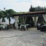 Il gazebo dove si fà colazione con gli altri ospiti