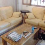 Couch Ecke neben der Rezeption