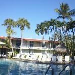 Poolside at the Gulf coast Inn