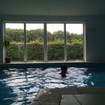 Indoor swimming pool, next to house