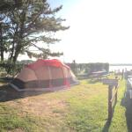 Our spot was on the bay, we were able to drop out kayaks right in the water from our campsite an