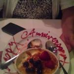 Creme Brulee compliments of our server.
