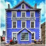 Harbourmaster Hotel, Aberaeron. Painting © 2015 Peter Topping, Paintings from Pictures.