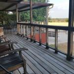 Oak Lodge Deck at X Bar Ranch