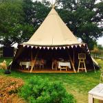Tipi bunting and fairy lights !!!!