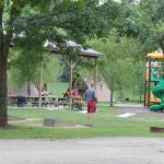 Playground immediately out front of cabins