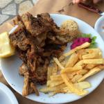 Lamb chops and greek hamburger