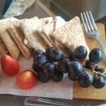 Brie cheese and fruit!!! Delicious for two