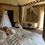 Bridal suite with dress awaiting bride!