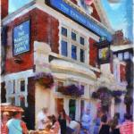 The Trevor, Chorlton. Painting © 2012 Peter Topping, Paintings from Pictures