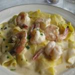 Fettuccine and Shrimp