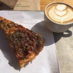 Cappuccino and frittata