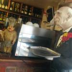 by the resaurant bar