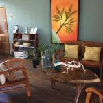lounge with nice decor