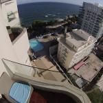 Vista a la piscina desde el piso 11