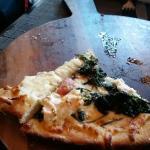 Pesto Pizza and Spinach Pizza