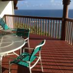 Spacious deck and unobstructed view out to ocean.