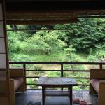 View from room to veranda and river