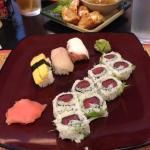 Tomago, Hamachi, Tako Nigiri / Spicy Ahi Temaki